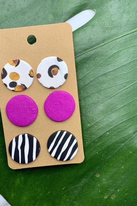 Studs Love Polymer Clay Earrings | Cute Polymer Clay Earrings Studs