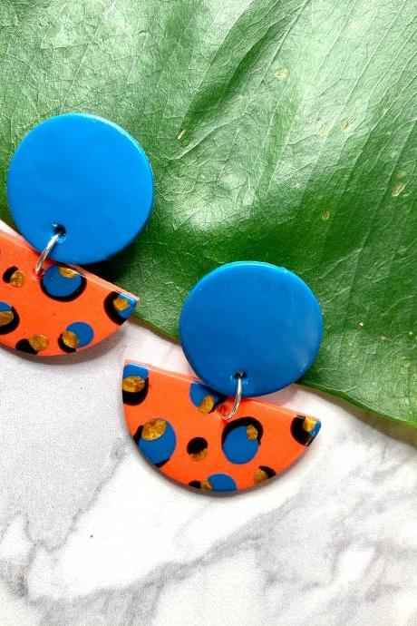 Wild Child Leopard Earrings | Cute Handmade Polymer Clay Drop Earrings